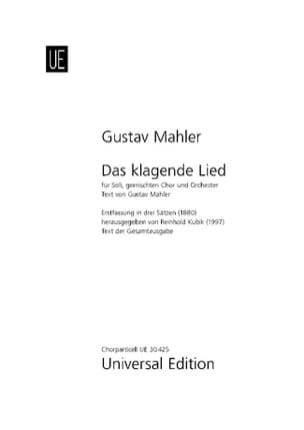 Das Klagende Lied - Gustav Mahler - Partition - laflutedepan.com