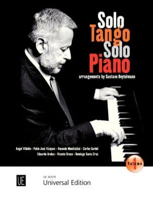 - Solo Tango, Solo Piano. Volume 1 - Partition - di-arezzo.fr