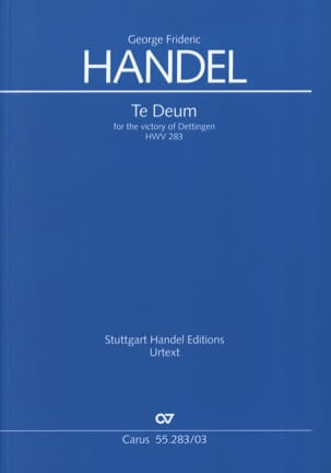 HAENDEL - Dettingen Te Deum HWV 283 - Sheet Music - di-arezzo.co.uk
