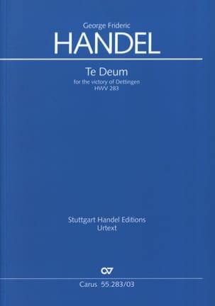 Dettingen Te Deum HWV 283 HAENDEL Partition Chœur - laflutedepan