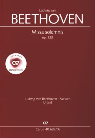 Ludwig van Beethoven - Missa Solemnis Opus 123 - Partition - di-arezzo.fr