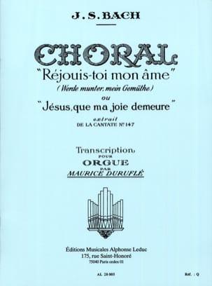 Bach Jean-Sébastien / Duruflé Maurice - Choral Réjouis-Toi mon Ame - Partition - di-arezzo.fr