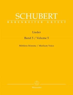 Lieder Volume 5 Voix Moyenne - SCHUBERT - Partition - laflutedepan.com