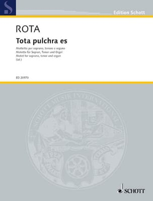 Nino Rota - Tota Pulchra Es - Sheet Music - di-arezzo.co.uk