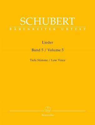 Lieder Volume 5 Voix Grave - SCHUBERT - Partition - laflutedepan.com