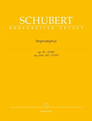 SCHUBERT - Impromptus Opus 90 D 899, Opus Post. 142 D 935 - Partitura - di-arezzo.it