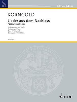 Lieder Aus Dem Nachlass Volume 2 - KORNGOLD - laflutedepan.com