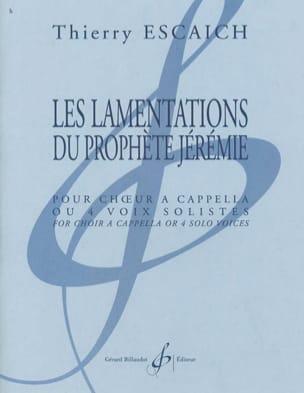 Thierry Escaich - Les Lamentations Du Prophète Jérémie - Partition - di-arezzo.fr