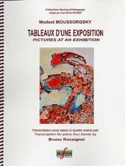 Modest Moussorgsky - Tableaux D'une Exposition. 4 mains - Partition - di-arezzo.fr