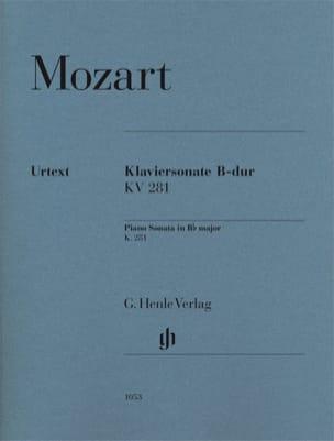 MOZART - Sonate Pour Piano En Si Bémol Majeur K. 281 (189f) - Partition - di-arezzo.fr