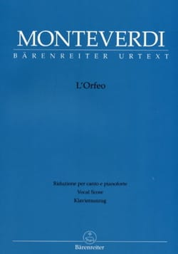 Claudio Monteverdi - L'Orfeo - Sheet Music - di-arezzo.co.uk