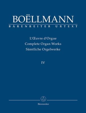Léon Boëllmann - Work of Organ Volume 4 - Sheet Music - di-arezzo.com