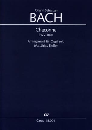 BACH - Chaconne BWV 1004 - Partition - di-arezzo.fr
