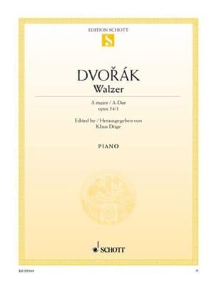 Anton Dvorak - Walzer Op. 54-1 En la Majeur - Partition - di-arezzo.fr