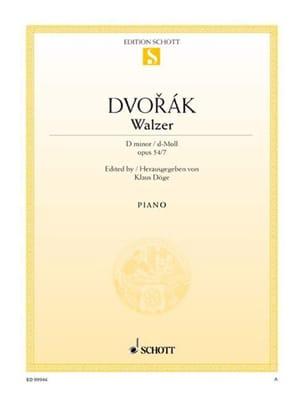Anton Dvorak - Walzer Op. 54-7 En Ré Mineur - Partition - di-arezzo.fr