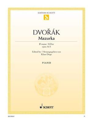 Mazurka Op. 56-3 En Si Bémol Majeur - Anton Dvorak - laflutedepan.com