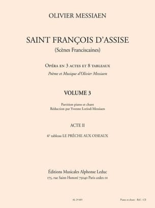 Olivier Messiaen - Saint François d'Assise (Volume 3 - Acte 2) - Partition - di-arezzo.fr