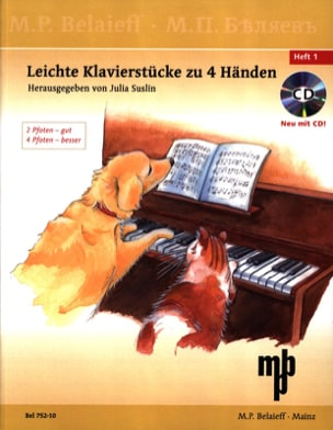 - Leichte Klavierstücke Zu 4 Händen Volume 1 + CD - Partition - di-arezzo.fr