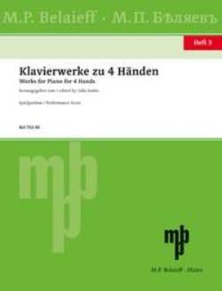 - Klavierwerke Zu 4 Händen Volume 3 - Partition - di-arezzo.fr