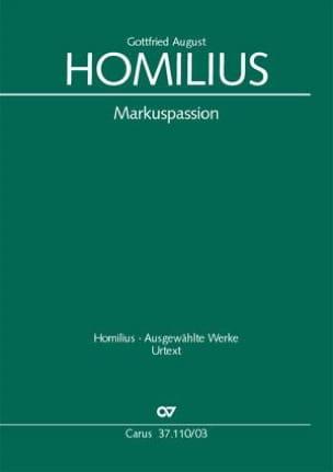 Markuspassion Gottfried August Homilius Partition Chœur - laflutedepan