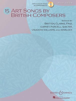 15 Art Songs By British Composers. Voix Haute Partition laflutedepan