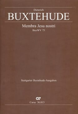 Dietrich Buxtehude - Membra Jesu Nostri. choeur - Partition - di-arezzo.fr