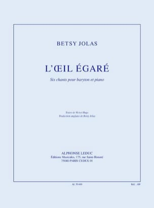 Betsy Jolas - L'oeil Egaré - Partition - di-arezzo.fr