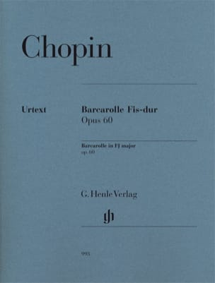 CHOPIN - Barcarolle in F sharp major Opus 60 - Sheet Music - di-arezzo.co.uk
