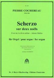 Pierre Cochereau - Scherzo sur 2 Noëls - Partition - di-arezzo.fr