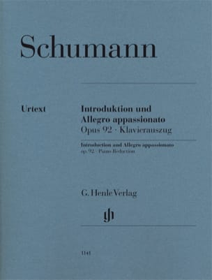 Robert Schumann - Introduction et Allegro Appassionato Opus 92 - Partition - di-arezzo.fr