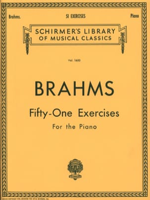 51 Exercices BRAHMS Partition Piano - laflutedepan