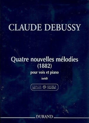 DEBUSSY - 4 New Melodies 1882 - Sheet Music - di-arezzo.co.uk