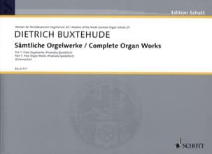 Œuvre D'orgue Complète, Volume 1 BUXTEHUDE Partition laflutedepan