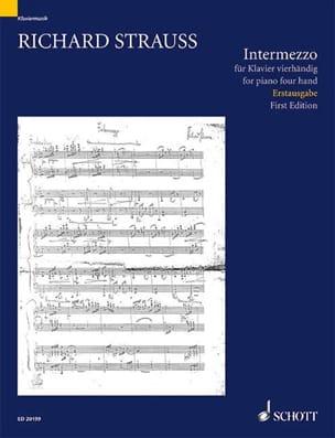 Intermezzo. 4 mains Richard Strauss Partition Piano - laflutedepan