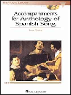 - Anthology Of Spanish Song Accompaniment Cd - Low Voice - Partition - di-arezzo.fr