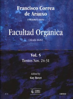 de Arauxo Francisco Correa - Facultad Organica Volume 5 - Sheet Music - di-arezzo.com