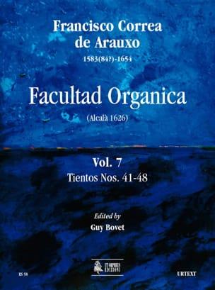 de Arauxo Francisco Correa - Facultad Organica Volume 7 - Partition - di-arezzo.fr