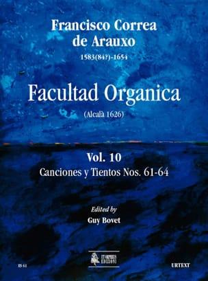 de Arauxo Francisco Correa - Facultad Organica Volume 10 - Partition - di-arezzo.fr