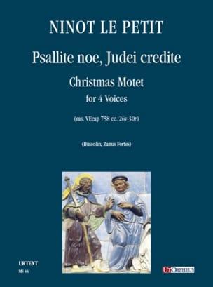 Psallite Noe, Judei Credite - Le Petit Ninot - laflutedepan.com