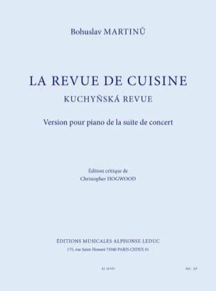 La Revue de Cuisine - Bohuslav Martinu - Partition - laflutedepan.com