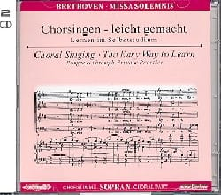BEETHOVEN - Missa Solemnis op. 123. 2 CD Soprano - Partition - di-arezzo.fr