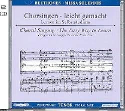 BEETHOVEN - Missa Solemnis op. 123. 2 CD Tenor - Partition - di-arezzo.fr