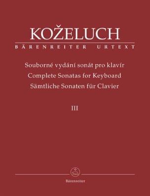 Leopold Antonin Kozeluch - Sonates Pour Clavier. Volume 3 - Partition - di-arezzo.fr