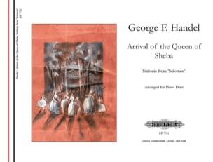 Georg-Friedrich Haendel - Ankunft Der Königin Von Saba. 4 mains - Partition - di-arezzo.fr