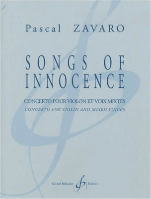 Songs Of Innocence Pascal Zavaro Partition Chœur - laflutedepan