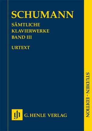 Robert Schumann - Oeuvre Pour Piano Volume 3 - Edition de Poche - Partition - di-arezzo.fr