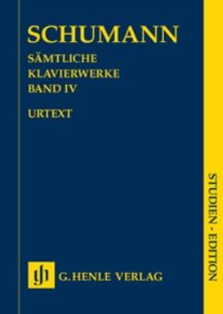 SCHUMANN - Oeuvre Pour Piano Volume 4 - Edition de Poche - Partition - di-arezzo.fr