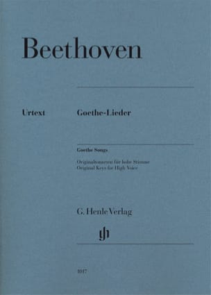 BEETHOVEN - Goethe-Lieder - Partition - di-arezzo.fr