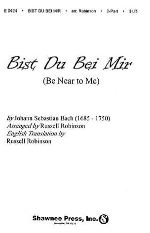 BACH - Bist Du Bei Mir - Sheet Music - di-arezzo.co.uk