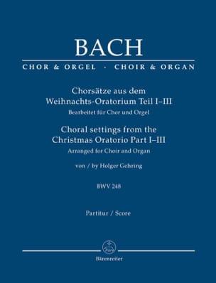 Jean-Sébastien Bach - Chorsätze Aus Dem Weihnachts-Oratorium BWV 248, Part. 1-3 - Partition - di-arezzo.fr